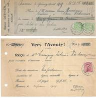 2 RECUS TP. émission 1915 Fortune NAMECHE Et NAMUR Voir Verso - Fortune Cancels (1919)