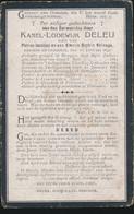 PASTOOR LISSEWEGE & MERCKEM - KAREL DELEU  DADIZELE 1840 - MERCKEM 1908 - Todesanzeige