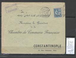 France - Jerusalem Bureau Français - 1908 Pour Constantinople - Cartas