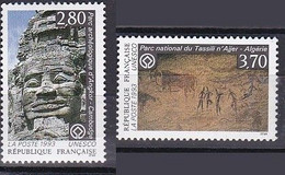 France Service Unesco De 1993 YT 110-111 Neufs - Nuevos