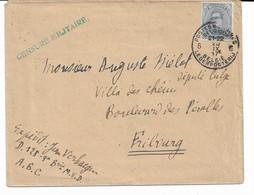 Lettre TP. 141 P.M.B. N° 6 Du 20/9/1917 Vers SUISSE Verso P.M.B. N° 4 + Censure Militaire Griffe Verte - Army: Belgium