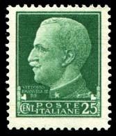 REGNO 1929 Serie Imperiale Effige Di V.E.III Cent. 25 C. MNH ** Integro - Ungebraucht