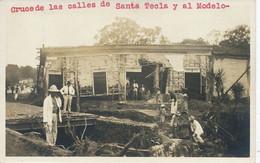 Real Photo Earthquake  Or Flood  Cruce De Las Calles De Santa Tecla Y Al Modelo - El Salvador