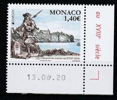 Monaco 2020 : LUXE !!! - N° 3234 - Europa - Les Anciennes Routes Postales - Neuf** - En Coin Daté - - Ungebraucht
