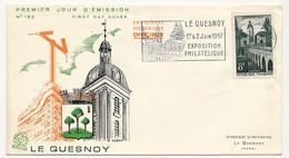 FRANCE - Enveloppe FDC OMEC - 8F Le Quesnoy - Omec Concordante 1957 - 1950-1959