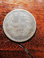 MONNAIE COIN LUXEMBOURG 5 CENTIMES 1855 GUILLAUME III BRONZE BARRE PARIS - Luxembourg