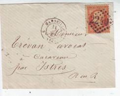 Yvert 23 Sur Fragment GC 2240 Marseilles Pour Istres 1867 - 1849-1876: Classic Period