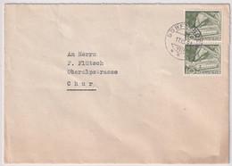 299 Paar Auf Brief Aus DÖRFLINGEN Nach CHUR - Cartas