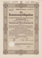 4% Kommunalobligation Berlin, Deutsche Wohnstätten-Hypothekenbank AG über RM 1000,- Berlin, Den 1.Juli 1943 - J - L