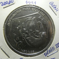 Portugal 200 Escudos 1991 Navegações Para Ocidente - Portogallo