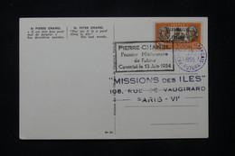 WALLIS ET FUTUNA - Carte Et Cachet Du Premier Missionnaire De Futuna Pierre Chanel En 1954  - L 77378 - Covers & Documents