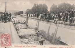 34/ Béziers - Nettoyage Du Pont Canal - Clicher Boyer - Trés Belle Animation RRR - Beziers