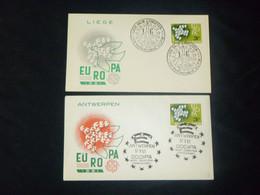 """BELG.1961 1193 FDC's Liége & Antwerpen : """" EUROPA 61 """" - 1991-00"""
