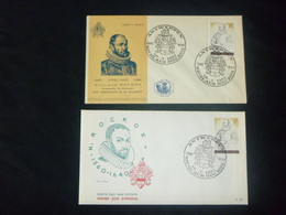 """BELG.1961 1174 2x Dif.FDC's Antwerpen  : """" Nicolaus Rockox """" - 1961-70"""