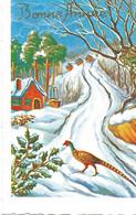 Carte Mignonnette - Bonne Année , Paysage De Neige - Neujahr