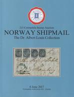 Vente Aux Enchères Corinphila  N°215 De Juin 2017 : Norvège Poste Maritime Collection Albert Louis - Philatelie Und Postgeschichte