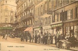 75009 - PARIS - Rue Cadet - Belle Animation Devant Les Commerces - Couleur - District 09