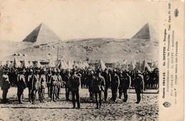 Thematiques  Guerre 1914 15 Egypte Troupes Australiennes Devant Les Pyramides Australian Troops - Pyramiden