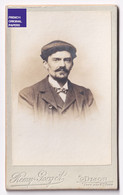 Photo CDV 1900 - Portrait Homme Noeux Papillon Et Casquette Képi Mode - Photographie Remy Gorget à Dijon A42-9 - Personnes Anonymes