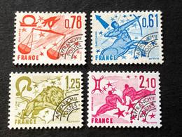 Préos 154 155 156 157 Neuf Sans Gomme - 1964-1988