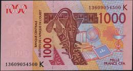 ♛ WEST AFRICAN STATES - 1.000 Francs 2003 (2013) {Senegal K} UNC P.715 Km - Mali