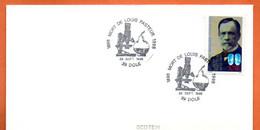 MAURY N° 2916 LOUIS PASTEUR ( Cachet Concordant ) 39 DOLE Lettre Entière N° GH 586 - 1961-....