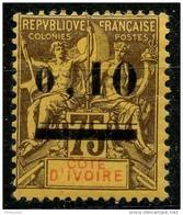 Cote D'ivoire (1904) N 19 * (charniere) - Nuevos