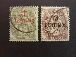 MAROC, Année 1907-10, YT N° 20 Et 21 Oblitérés - Gebruikt