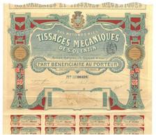 S. A. Des Retorderies Et Tissages Mécaniques De St. Quentin - Textil