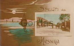 Italy - Saluti Da Messina - Viale S. Martino - Sicily - Messina