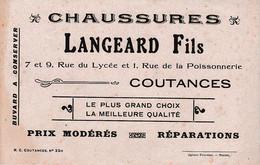 COUTANCES - Chaussures LANGEARD Fils - Buvard - Historical Documents