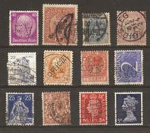 Europe - Perfins - Perforés - Petit Lot De 12° - Autriche - Danemark - Hongrie - Irlande - Luxembourg - Suisse - Reich.. - Kilowaar (max. 999 Zegels)