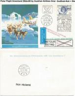 Polar Flight Greenland 29dec80 By Austrian Airlines Graz Godthab-Nuk + Steamship - Polare Flüge