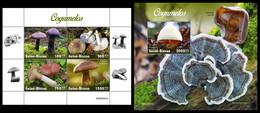 GUINEA BISSAU 2020 - Mushrooms, M/S + S/S. Official Issue [GB200401] - Champignons