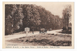 RANDAN  (cpa 63)  Les Quatre Pierres - Entrée De Randan - Route De Vichy     -  L 1 - Andere Gemeenten