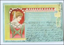 Y11498/ Jugendstil Litho AK  Maiglöckchen  1900 - Altri