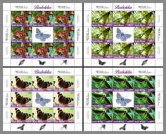 GUINEA BISSAU 2020 MNH Butterflies Schmetterlinge Papillons 4M/S - OFFICIAL ISSUE - DHQ2046 - Butterflies