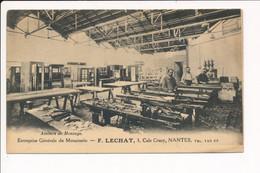 Carte De NANTES Entreprise Générale De Menuiserie F. LECHAT Au 3 Cale Crucy ( Recto Verso ) - Nantes