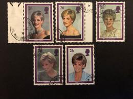 GB  Princess Diana Memorial Set Of 5  FU - Used Stamps