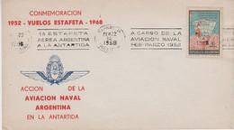 1968 Argentina Conmemoracion Vuelos Estafeta 1952-1968 Cover(50.813) - Polare Flüge