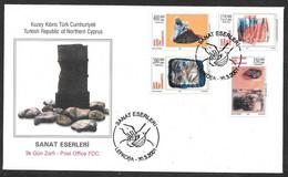 Cyprus (Turkish Posts) 2001 Fine Arts / Artisans Illustrated FDC - Storia Postale