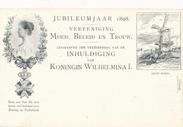 Nederland - 1898 - 2,5 Cent Cijfer, Jubileum Briefkaart P33c - J. Maris: Molen - Ongebruikt - Ganzsachen