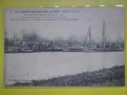 Entre St Martin Sur Le Pre Et Recy. Innondations. Chemin De Halage Du Canal D Alimentation - Andere Gemeenten