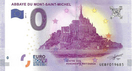 0 EURO Souvenir Banknote - Mont-Saint-Michel 2017 - Privéproeven