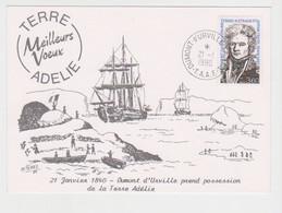 TAAF - Dumont D'urville - Terre Adélie - Carte Illustrée - Voeux - Astrolabe - - TAAF : Terres Australes Antarctiques Françaises