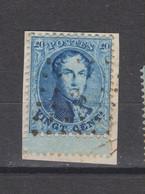 COB 15 Oblitéré Lpts 3 ALOST Bord De Feuille - 1863-1864 Medaillons (13/16)