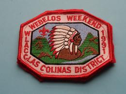 WEBELOS WEEKEND - 1991 - WLACCLAS COLINAS DISTRICT ( Zie Foto Voor Detail ) BADGE SCOUTS ! - Pfadfinder-Bewegung