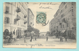 40 - CORSE -- BASTIA - Avenue Carnot -- Voyagée 1904 - Bastia
