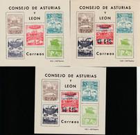 1936. (*) Edifil: ASTURIAS Y LEON 1/5. TRES PROYECTOS NO ADOPTADOS DE HOJA BLOQUE-FANTASIAS - Asturië & Leon