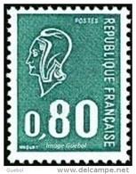 France Marianne De Béquet N° 1893 ** Le 0f80 Vert Gravé Provenant De Carnet - 1971-76 Marianne Of Béquet